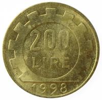 Moneda Italia 200 Lire 1978-1998  - Numisfila
