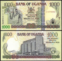 Billete Uganda 1000 Shillings 2009 - Numisfila
