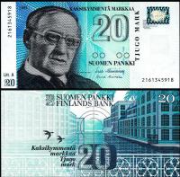 Billete Finlandia 20 Pankki 1993 - Numisfila