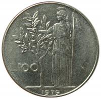 Moneda Italia 100 Lire 1956-1981 Diosa Minerva - Numisfila