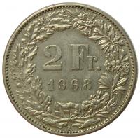 Moneda Suiza 2 Francs 1968-1981 - Numisfila
