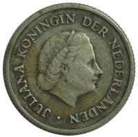 Moneda Antillas Holandesas ¼ Gulden 1954-1970 - Numisfila