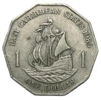 Moneda Caribe del Este 1 Dólar 1989-2000 - Numisfila