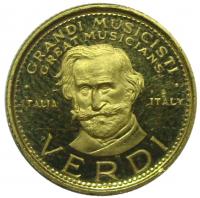 Medalla Oro Verdi Grandes Músicos  - Numisfila