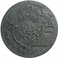 Moneda Caracas ¼ Real 1817 Fecha Pequeña - Cuartillo  - Numisfila