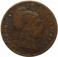 Moneda ½ Centavo Monaguero 1843 Libertad - Numisfila