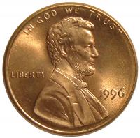 Moneda Estados Unidos 1 Centavo 1996 P Lincoln - Numisfila