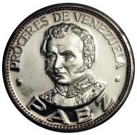 Medalla Plata Páez Próceres Italcambio - Numisfila