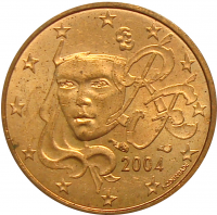 Moneda Francia 1 Centavo de Euro 1999 - 2014 - Numisfila