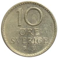 Moneda Suecia 10 Ore 1967-1973 - Numisfila