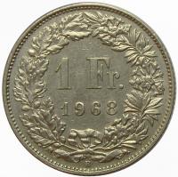 Moneda Suiza 1 Franc 1968-1981 - Numisfila