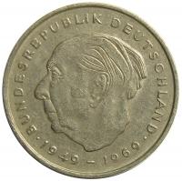 Moneda Alemania Federal 2 Marcos 1970-1987 - Numisfila