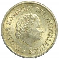 Moneda Antillas Holandesas ¼ Gulden 1954-1967 - Numisfila