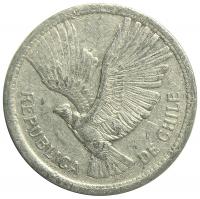 Moneda Chile 10 Pesos 1956-59 Condor - Numisfila
