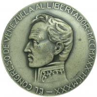 Medalla Congreso 1930 Libertador Simon Bolivar - Numisfila