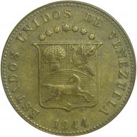 Moneda 12½ Céntimos de 1944 Locha Amarilla - Numisfila