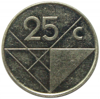 Moneda Aruba 25 Centavos 1983-2013 - Numisfila