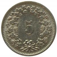Moneda Suiza 5 Rappen 1944-1971 - Numisfila