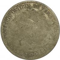 Escasa Moneda 1 Bolivar de Plata 1900 - Numisfila