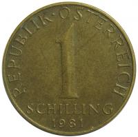 Moneda Austria 1 Schilling 1972-2001 - Numisfila