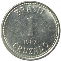 Moneda Brasil 1 Cruzado 1986-1988   - Numisfila