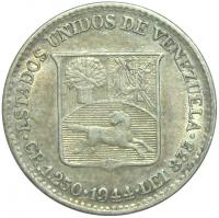 Moneda ¼ de Bolívar - Medio 1944 - Numisfila