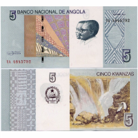 Billete Angola 5 Kwanzas 2012 (2017) - Numisfila