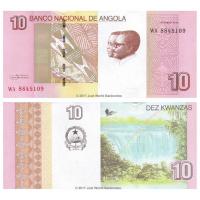Billete Angola 10 Kwanzas 2012 (2017) - Numisfila