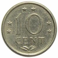 Moneda Antillas Holandesas 10 Centavos 1970-1985 - Numisfila