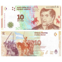 Billete Argentina 10 Pesos (2016) Belgrano - Numisfila
