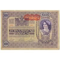 Billete Austria 10000 Kronen 1918 Imperio Hungaro - Numisfila