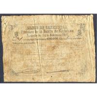 Billete Banco de Venezuela 8 Reales / 1 Peso 1862 Serie G - Numisfila