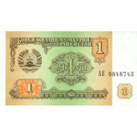 Billete Tajikistan 1 Rublo 1994 - Numisfila