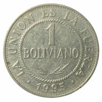 Moneda Bolivia 1 Boliviano 1987-2008 - Numisfila