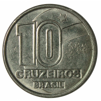 Moneda Brasil 10 Cruzeiros 1990-1991 - Numisfila