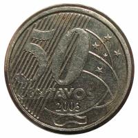 Moneda Brasil 50 Centavos 2002-2013 - Numisfila