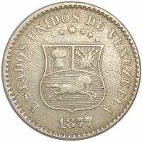 Moneda Un Centavo 1877 - Puya - Numisfila