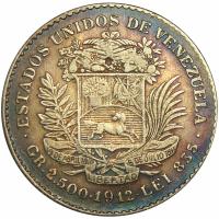 Moneda ½ Bolivar - Real Plata 1912 - Numisfila