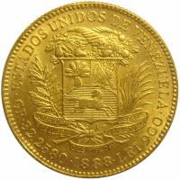 Replica Moneda Oro 100 Bolivares 1888 Pachano - Numisfila