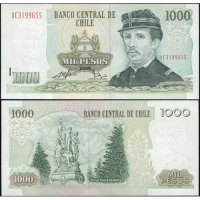 Billete Chile 1000 Pesos 2008 - Numisfila