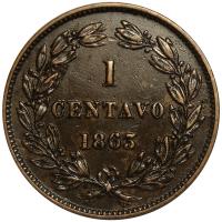 Buena Moneda Centavo Monaguero 1863 - Numisfila