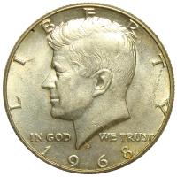 Moneda Plata EEUU ½ Dolar 1966 - 1968 Kennedy - Numisfila
