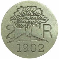 Ficha Hernandez Hermanos 2 Reales 1902 - Numisfila