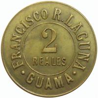 Ficha Francisco R Laguna 2 Reales Guama - Numisfila