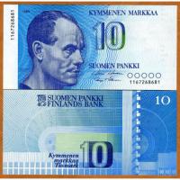 Billete Finlandia 10 Pankki 1986  - Numisfila