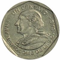 Moneda Guatemala 1 Centavo 1999 Fray Bartolome de las Casas - Numisfila