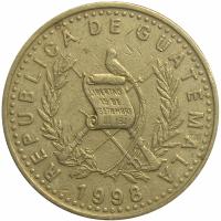 Moneda Guatemala 25 Centavos 1996-2000 - Numisfila
