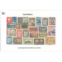 Guatemala 70 Estampillas usadas - Numisfila