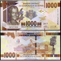 Billete Guinea 1000 Francs 2017 - Numisfila