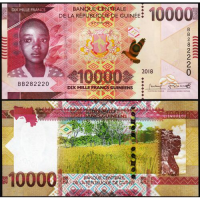 Billete Guinea 10000 Francs 2018 - Numisfila
